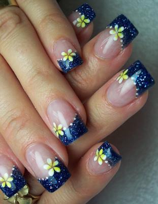Рисунки на ногтях кистями в домашних условиях